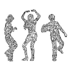 Walls Republic - Bump Wallpaper Mural M9034 - Get ready to groove with this black and white dancing female mural. It will make you feel party ready all the time.