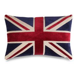Union Jack Decorative Toss Pillow - A Union Jack pillow takes prominent place in John Watson's favorite chair in BBC's Sherlock.