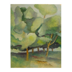 The Neighbor'S Trees, Original, Painting - This painting is on 140 pound watercolor paper that has been prepared with three coats of tinted, acrylic gesso.