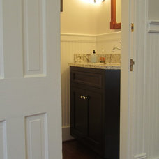 Traditional Powder Room by Stephanie Watson - Mike's Woodworking, Inc.