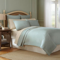 Modern Living Signature Matelasse European Square Pillow Sham - Freshen the look of any bed with the Modern Living Signature Matelasse European Square Pillow Sham. This square pillow sham is woven of 100% cotton for a soft hand. It comes in your choice of color and is conveniently machine-washable in cold on the gentle cycle and may be tumbled dry on low.