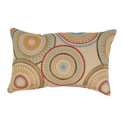 Pillow Perfect - Riley Rectangular Throw Pillow - Add the finishing touch to your home decor with this throw pillow from Pillow Perfect. This rectangular pillow features knife-edging and an eye-catching abstract design.