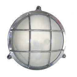 Shiplights - Round Cage Light with Screws (Solid Brass; Interior / Exterior by Shiplights) - Our Round Cage Light with Screws is made of solid brass and can be used indoors or outdoors in a wide variety of applications.