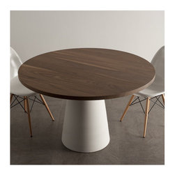 Seccio - Coffee Table Top with Ceramic Base - Features: -Material base: Ceramic.-Distressed: No.-Country of Manufacture: Italy.Dimensions: -Top dimensions: 1.2'' H x 47.2'' W x 47.2'' D.-Base dimensions: 27.8'' H x 20'' W x 20'' D.-Overall dimensions: 29'' H x 47.2'' W x 47.2'' D.