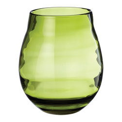 Lazy Susan - Lazy Susan Olive Ringlet Vase, Large - Showcase your favorite flowers — or whatever you desire — in a container that's equally exquisite. This olive green glass vase has a wide mouth making it ideal for larger bouquets. You'll be tempted to fill it every week just to keep it on display.