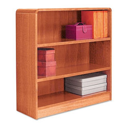 Alera - Alera BCR33636MO Aleradius Corner Wood Veneer Bookcase - Medium Oak Multicolor - - Shop for Bookcases from Hayneedle.com! About AleraWith the goal of meeting the needs of all offices -- big or small casual or serious -- Alera offers an excellent line of furnishings that you'll love to see Monday through Friday. Alera is committed to quality innovative design precision styling and premium ergonomics ensuring consistent satisfaction.