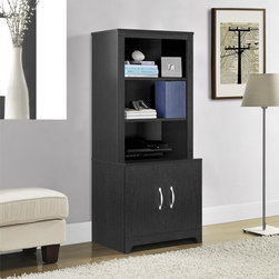 None - Woodland Espresso Media Stand/ Bookcase - The versatile Woodland media stand is available in a contemporary espresso finish to suit your decor. With six shelves and two drawers,this unit offers abundant storage space and can also be used as a bookshelf.
