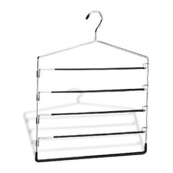 Organize It All - Swing Arm Slack Rack, 5 Tier - Our line of hangers offers an option for nearly every item of clothing in your closet. It's easy to outfit every closet in your house, even on a budget
