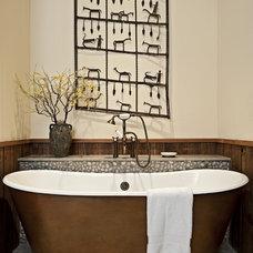 Rustic Bathroom by Bulhon Design Associates