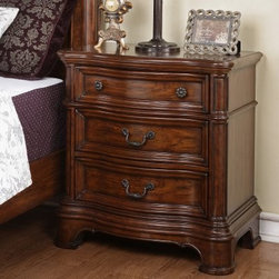 Mill Creek 3 Drawer Nightstand - Spiced Pecan - The Mill Creek 3 Drawer Nightstand - Spiced Pecan will have yours bedside items stored away in style. This sophisticated nightstand features decorative knob and bail handle and is crafted of select veneers and solids in a regal spiced pecan finish. Its three drawers are wonderful for keeping books, magazines, pens, diaries tucked away safely. With plenty of timeless appeal, this night stand is sure to make your bedroom setting complete.About Wynwood FurnitureAt Wynwood, designing unique and useful furniture is the goal. The company's own fashion consultants scour the globe for distinctive woods and eye-catching designs before bringing their findings back home to talented designers who set about creating beautiful pieces. The designs are then moved into production, where Wynwood specializes in ensuring all collections are both stunning and useful, giving every piece a thorough going-over that results in inimitable style, impeccable construction, and unequaled functionality.