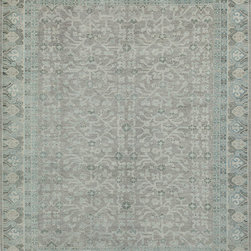 """Momeni - Momeni Patina PT-02 (Sky) 5'6"""" x 8'6"""" Rug - This Hand Knotted rug would make a great addition to any room in the house. The plush feel and durability of this rug will make it a must for your home. Free Shipping - Quick Delivery - Satisfaction Guaranteed"""