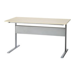 Nicolas Cortolezzis - FREDRIK Desk - Desk, birch effect, silver color