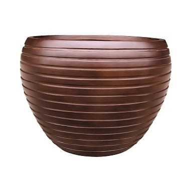 kasamoderndesign - Modern Wood Planter Pot to use Outdoor or Indoor, Large - Modern Wood Round Planter Pot to use Outdoor or Indoor Home Decoration Patio Garden Lawn F1090A