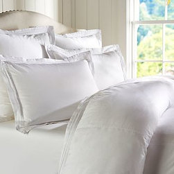 Casual Cotton Duvet Cover, King/Cal. King, White - A great choice for the bedroom or guestroom, our pin-tucked bedding has the soft, casual character of a favorite pair of jeans. Made of pure cotton. Duvet cover and sham reverse to self. Duvet cover has interior ties and a button closure. Sham has an envelope closure. Duvet cover, sham and insert sold separately. Machine wash. Imported.