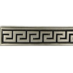 Anne at Home Greek Key Olympia Greek Key Distressed Pull - I like these drawer pulls for an armoire in a bedroom. The silver is sleek.