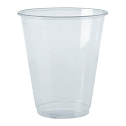 BOARDWALK - 10OZ CLEAR PET CUPS 20/45 - Produced from widely accepted type-1 PET plastic resin. Lightweight; 100% recyclable: Extensive U.S. Recycling Structure.. . . . . 10-oz. 45 20 900. . . Clear Plastic Cups. Dimensions: Height: 1.34375, Length: 1.31771, Width: 1.0625. Country of Origin: US   CAT: Foodservice Cups/Lids Clear Plastic & Combos