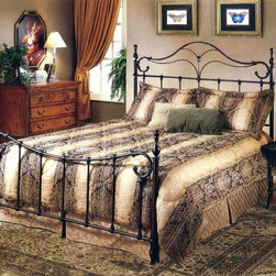 Hillsdale Furniture - Bennet Metal Poster Bed in Antique Bronze Fin - Choose Bed Size: QueenWith graceful curved features this Bennet Metal Bed in Antique Bronze has an elegant flair. It has Elongated Finials and a Traditional Style making it a classic piece. The sturdy metal structure give it a comfortable secure look. * Includes headboard, footboard, frame. Mattress and chest not included. Traditional style. Elongated finials. Full headboard: 55.25 in. L x 2 in. W x 57.25 in. H. Queen headboard: 62.25 in. L x 2 in. W x 57.25 in. H. King headboard: 78.25 in. L x 2 in. W x 57.25 in. HThe Bennett bed is a surprising twist on a traditional style. With elongated finials a sweeping footboard and unique ornamentation, it's not your average old fashioned bed.