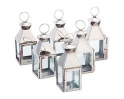 Riado - Mini Classic Lanterns PN, (Set of 6) - Minimalism! These traditional style lanterns are found all over the luxury homes and hotels and are great to light the entrance, the yard, or simply cluster around the pool, at sunset.