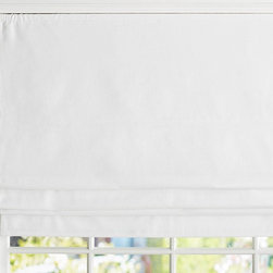 Linen Roman Shade - This simple cotton linen shade brings a fresh feel to kids' windows. Exclusive to Pottery Barn Kids, the innovative cordless system of hidden clips with no exposed cords allows you to adjust the height of the shade for great versatility and ease of operation.