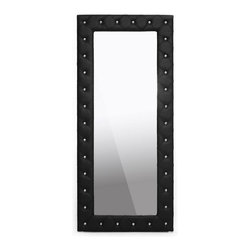 Wholesale Interiors - Stella Crystal Floor Mirror in Black - Stella is a glamorous designer floor mirror that takes it up a notch.