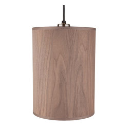 Lights Up! - Meridian Small Pendant Lamp, Wood Veneer - This natural wood veneer pendant is so refreshingly light and simple, it'll look at home almost anywhere in the house. Try one or three over your desk, bathroom sink or breakfast bar. You get four pretty woods to choose from.