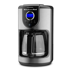 KitchenAid - KitchenAid RKCM111OB Onyx Black 12-cup Glass Carafe Coffee Maker (Refurbished) - The KitchenAid 12-cup Coffee Maker is a simple,precise and elegant electric brewer. This coffee maker offers a modern onyx black color with a brushed steel finish,and brew,bold,and auto brew settings.