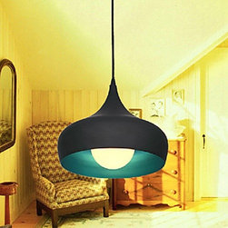ceiling lights--lightsuperdeal.com - Modern Minimalist Pendant With Anti-Rust Aluminum Shade - 1 Light