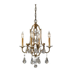 "Murray Feiss - Murray Feiss MRF-F2480-4OBZ Valentina Traditional Mini Chandelier - Duo-mounts. Can be installed as chandelier or semi-flush mounts. Semi-Flush Mount Height: 21.5""."