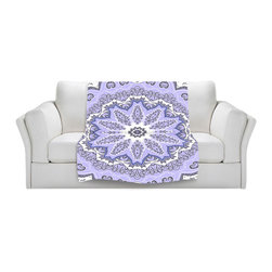 DiaNoche Designs - Throw Blanket Fleece - Fairy Dream Mandala Purple - Original Artwork printed to an ultra soft fleece Blanket for a unique look and feel of your living room couch or bedroom space.  DiaNoche Designs uses images from artists all over the world to create Illuminated art, Canvas Art, Sheets, Pillows, Duvets, Blankets and many other items that you can print to.  Every purchase supports an artist!