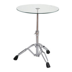 Rock Out Table - Oh, to play the drums in a '90s band. That would have been an absolutely rad moment. In an ode to the dream of every teenager of that era, this cool table offers up some drum legs to keep things rockin'.