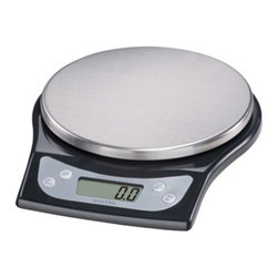 Taylor - Stainless Steel Aquatronic Kitchen Scale - Salter Aquatronic electronic kitchen scale weighs both dry and liquid ingredients