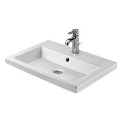 Duravit - Duravit - Vanity basin 60 cm 2nd floor 1 tap hole - 03476000001 - White W/Wondergliss