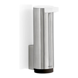 Blomus - Sento Large Wall-Mounted Soap Dispenser - Matte - If cleanliness is next to godliness, then a large soap dispenser should pretty well set you up for sainthood. This one, with its clean modern lines and ample capacity, will ensure that you, and the area around your sink, look simply divine.