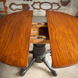 Dining Tables - Wood extension with gears are used to insure easy operation of leaf inserts