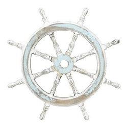 "BZBZ38705 - Wood Ship Wheel Nautical Maritime Decor - Wood Ship Wheel 24""D Nautical Maritime Decor. Some assembly may be required."