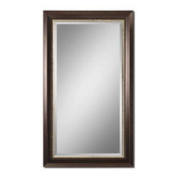 Uttermost - Blaisdell Espresso Bronze Mirror - Lightly Distressed Espresso Bronze Finish With Antiqued Silver Details. Mirror Feature A Generous 1 1/4 in.  Bevel. May Be Hung Either Horizontal Or Vertical.