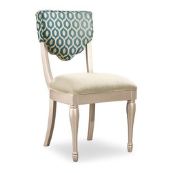 Hooker Furniture - Desk Chair - 5275 - White glove, in-home delivery!  For this item, additional shipping fee will apply.  This cheerful desk chair is crafted from rubberwood, hardwood solids and fabric.