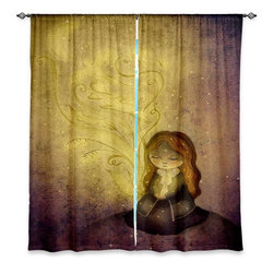"DiaNoche Designs - Window Curtains Unlined - Amalia K. Light Upon Us - DiaNoche Designs works with artists from around the world to print their stunning works to many unique home decor items.  Purchasing window curtains just got easier and better! Create a designer look to any of your living spaces with our decorative and unique ""Unlined Window Curtains."" Perfect for the living room, dining room or bedroom, these artistic curtains are an easy and inexpensive way to add color and style when decorating your home.  The art is printed to a polyester fabric that softly filters outside light and creates a privacy barrier.  Watch the art brighten in the sunlight!  Each package includes two easy-to-hang, 3 inch diameter pole-pocket curtain panels.  The width listed is the total measurement of the two panels.  Curtain rod sold separately. Easy care, machine wash cold, tumble dry low, iron low if needed.  Printed in the USA."