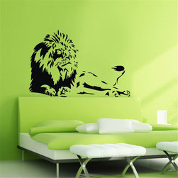 ColorfulHall Co., LTD - Lions & Jungle Animals Wall Pasters - You will find hundreds of affordable peel - and - stick wall decal designs, suitable for all kinds of tastes and every room in your house, including a children's movie theme, characters, sports, romantic, and home decor designs from country to urban chic. Different from traditional decals, vinyl wall decals is with low adhesive that allows you to reposition as often as you like without damaging the paint. Application is easy: peel offer the pre-cut elements on the design with a transfer film, and then apply it to your wall. Brighten your walls and add flair to your room is just as easy.