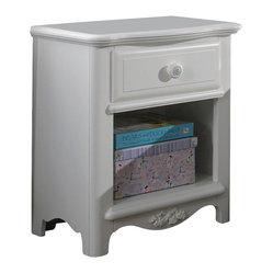 Lea Haley Nightstand in White