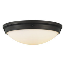 Murray Feiss - Murray Feiss Boulevard Transitional Flush Mount Ceiling Light X-BRO922MF - Rich tones help to create a subtle traditional appeal to this Murray Feiss flush mount ceiling light. From the Boulevard Collection, this traditional yet modern flush ceiling light features a base with an elegant Oil Rubbed Bronze finish that creates a warm, inviting look when placed alongside the opal white etched glass shade.