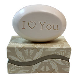 """New Hope Soap - Scented Soap Bar Personalized – I """"Heart"""" You, Lilac & White Tea - Personalized Scented Soap Bar Gift Set Engraved with I """"Heart"""" You"""