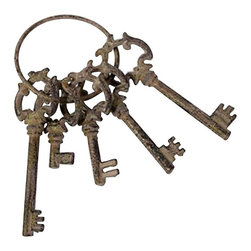 Imax - IMAX Weathered decorative Keys - IMAX Weathered decorative Keys-Decorative metal-Classical-French quarter accentsNeed more information on this product? Click here to ask.Dimensions: 2″ x 4.25″ x 9″.
