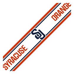 Trademarx Wall Decor - NCAA Syracuse Orangemen Prepasted Wallpaper Border Roll - Features: