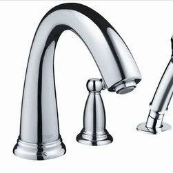 Hansgrohe - Hansgrohe 6123000 Swing Tub Filler, Handle - Trim, 4-Hole Roman Tub Set