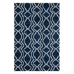 "Loloi Rugs - Loloi Rugs Cassidy Collection - Navy, 3'-6"" x 5'-6"" - Featuring an incredibly soft texture, the Cassidy Collection is a haven for bare feet. Try it in the bedroom, bathroom, or living room and experience one of the most comfortable rugs you'll ever feel. The 100% polyester surface is not only one of the softest materials on the rug market, it's also incredibly durable, stain resistant, and color fast - making Cassidy a smart choice for the most high traffic rooms in your home. Power loomed in China."
