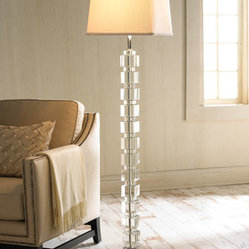 Crystal Cube Floor Lamp