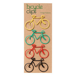 Bicycle Clips - These bicycle clips are so cute. I would definitely love to keep papers organized with one of these colorful little clips!