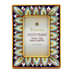 Artistica - Hand Made in Italy - PHOTO FRAME: Deruta Vario Penne - DERUTA PHOTO FRAMES: Absolutely exclusive by Artistica!