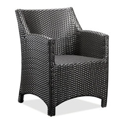 ZUO VIVA - Mykonos Chair Espresso - This cute and fun outdoor chair will look great on your porch, backyard or terrace while you have endless joyful hours of nice conversation. The Mykonos chair frames are constructed from epoxy coated aluminum and the weave from UV treated polypropylene for maximum resistance against the weather elements. Sit and enjoy, while you relax in the Mykonos chair.